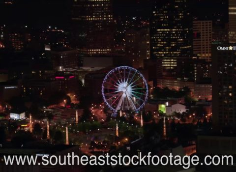 Aerials: Atlanta Ferris Wheel Night