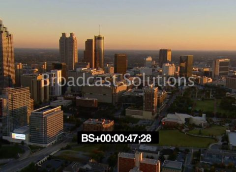 Aerials: Atlanta Skyline Sunset