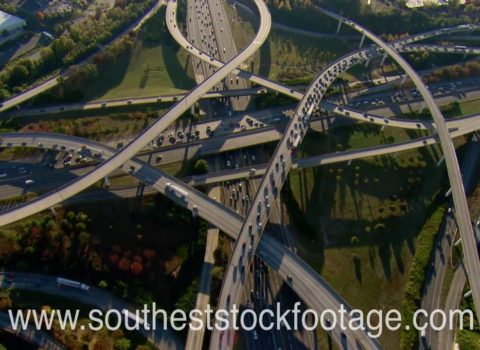 Aerials: Atlanta Traffic Spaghetti Junction