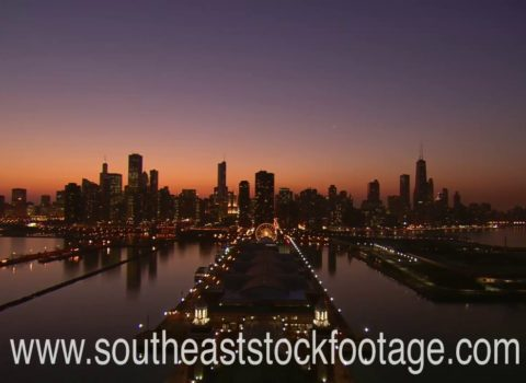 Aerials: Chicago Golden Hour
