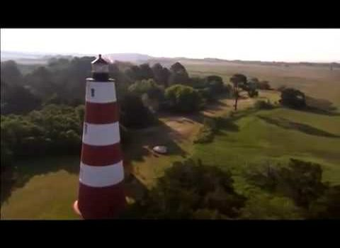 Aerials: Coastal Lighthouse – Savannah, Georgia