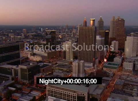 Aerials: Downtown Atlanta Golden Hour