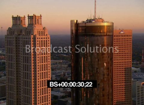 Aerials: Downtown Atlanta Sunset
