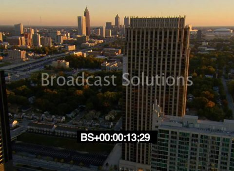 Aerials: Midtown Atlanta Sunset