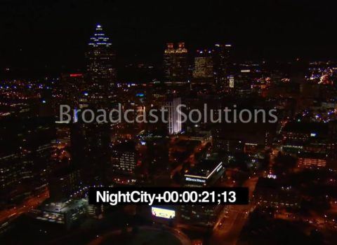 Aerials: Northbound Atlanta Night