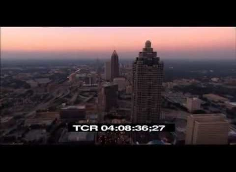 Aerials: Running North at Dusk Atlanta