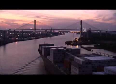 Aerials: Savannah Under the Bridge
