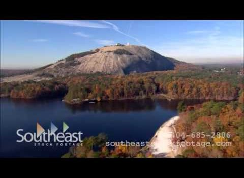 Aerials: Stone Mountain Park Georgia