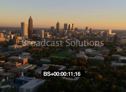 Aerials: Sunset Midtown Atlanta